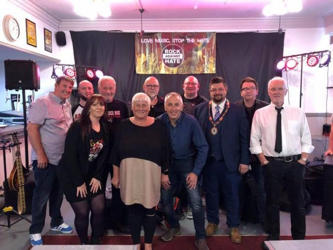 LAUNCH: Crowds gathered at the Newton Arms pub in Dalton for the launch of Rock Against Hate, an initiative by musicians in Furness to combat intolerance and discrimination in the area. A number of bands played at the event. Attendees included mayor Dalto