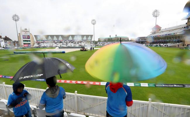 WAITING GAME: The sight of umbrellas being up has been a common one at the Cricket World Cup