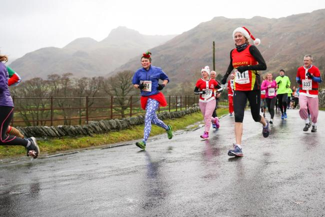 RUNNERS: Ambleside -based youth charity, Brathay Trusts will open entries for the popular Great Langdale Christmas Pudding 10k run. Applications are open on Friday 21st June. Last year the 30-year-old event attracted 1,000 runners, nearly all wearing fest