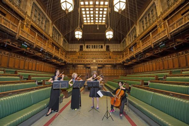 String quartet the Statutory Instruments playing in the Commons chamber