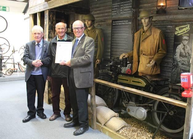FUNDRAISING: £10,000 has been raised for the Royal British Legion at the Lakeland Motor Museum, following the installation of a display to commemorate the centenary of the beginning of the First World War. Fundraising began in 2014 with the £1