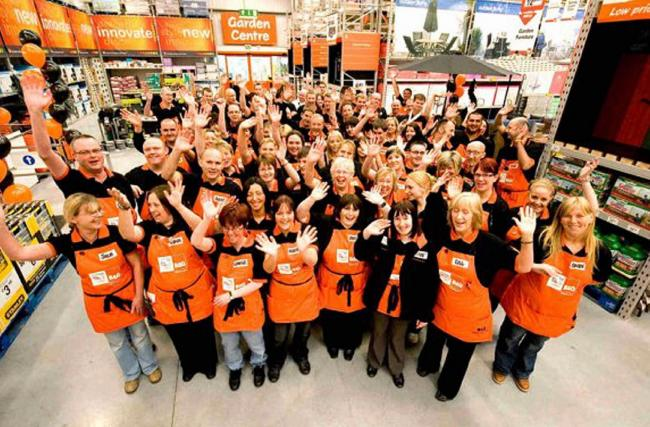 WELCOME Staff at the new B&Q store which opened at Cornmill Park, Barrow, in July 2008. It had moved from Abbey Road.