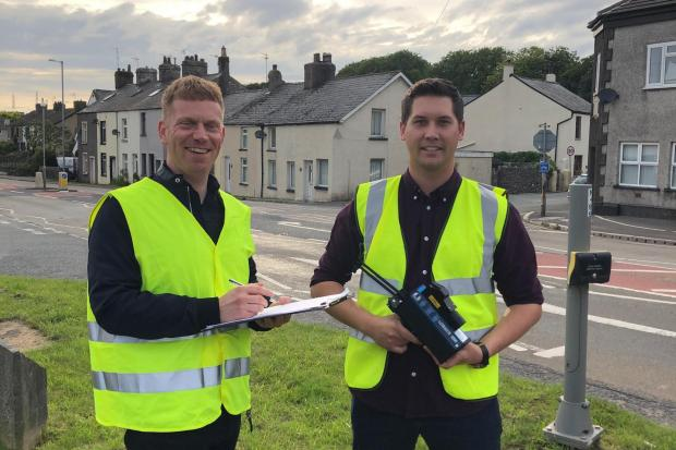 DRIVE SAFE: Cllr Daniel Edwards and right Cllr Ben Shirley are hoping to slow down speeding drivers