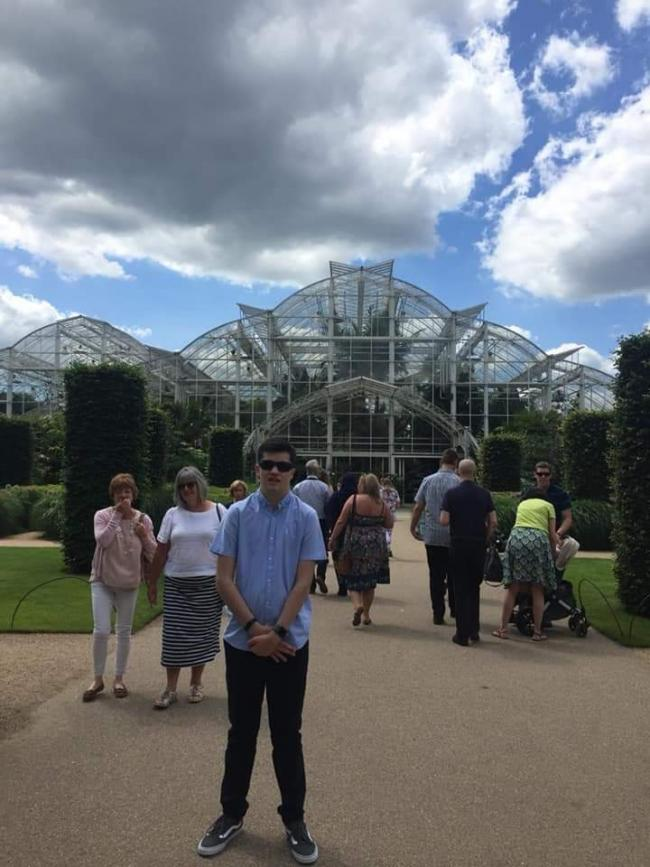 AWARD: Josh Clark spent Saturday at the Royal Horticultural Society Garden