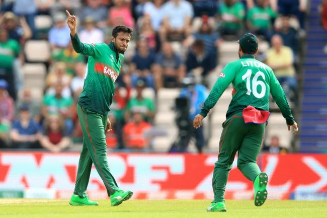 Shakib Al Hasan, left, had a day to remember for Bangladesh