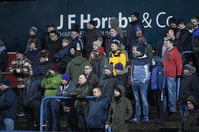MAKING NOISE: Supporters supply the soundtrack at Barrow AFC games