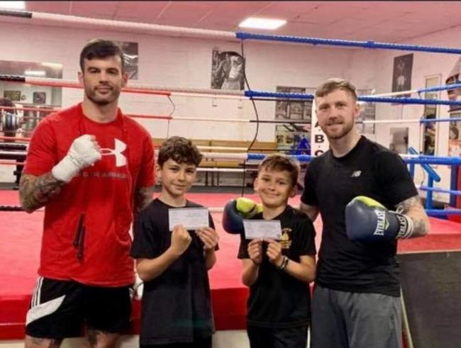 Mike McGoldrick and Ross Cooksey with Barrow ABC juniors