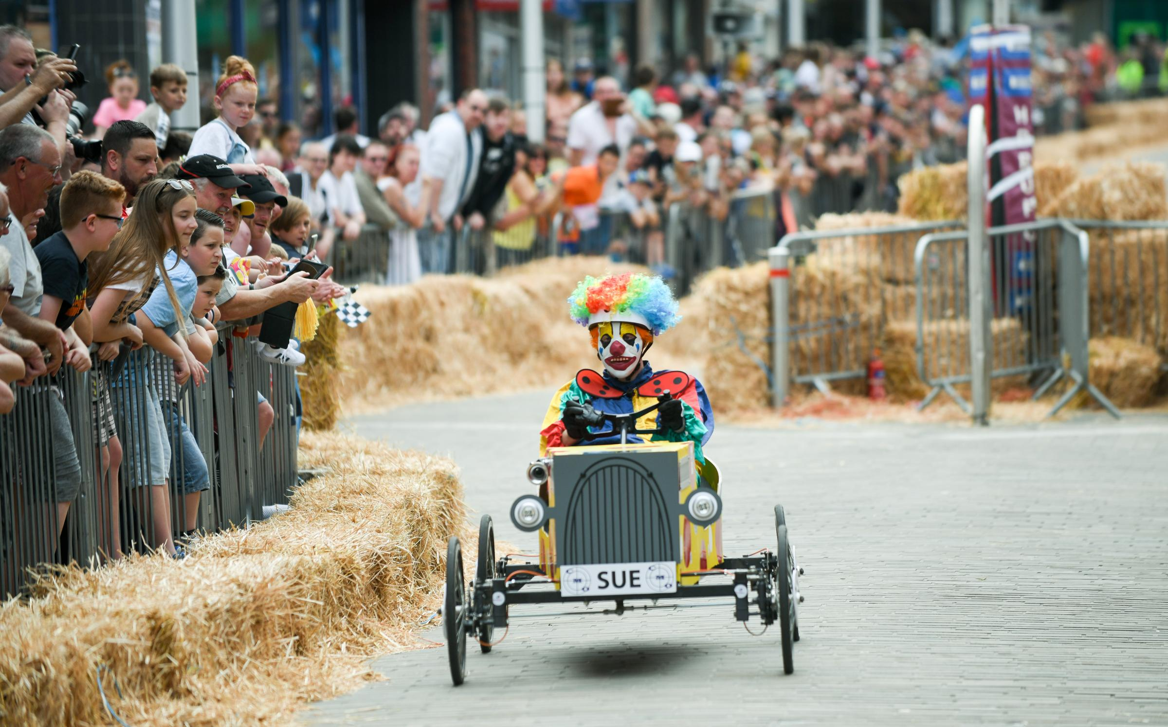 Barrow Bid's Super Soapbox Challenge in the town centre (credit Lindsey Dickings Film and Photography)