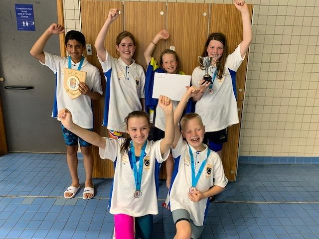 WELL DONE: The six successful swimmers from Chetwynde