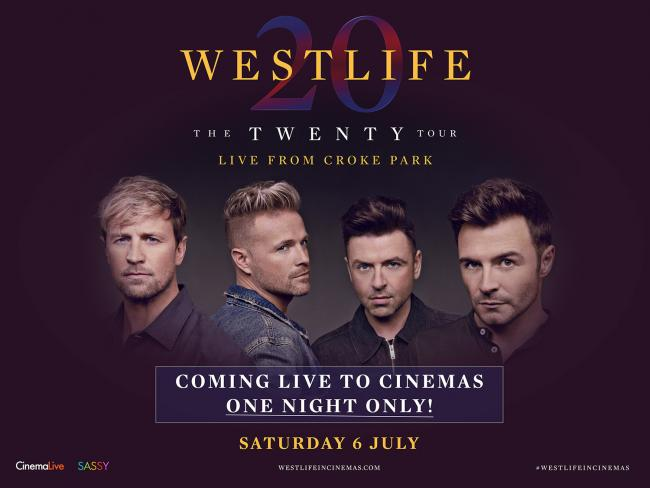Westlife: The Twenty Tour Live sees Shane, Kian, Mark and Nicky perform brand new music as well as all 14 of their UK number ones