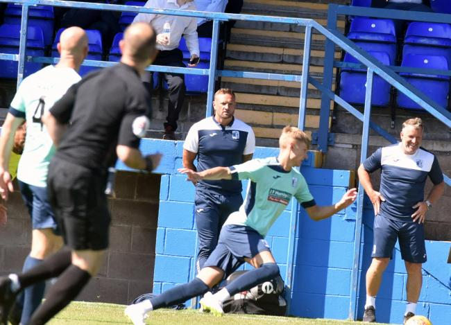 Ian Evatt looks on during the second half of the match against Blackburn at Holker Street