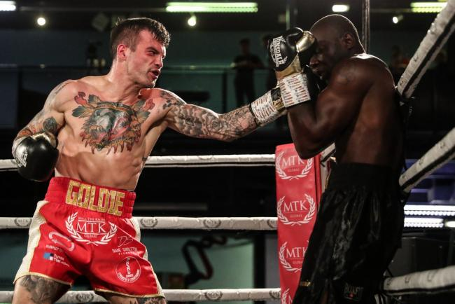 BACK IN STYLE: Mike McGoldrick defeated Gianni Antoh in what was his first fight in eight months