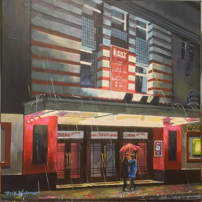 Roxy Cinema and its dazzling neon lights is among the striking artworks featured in Jack Webster';s Ulverston and Beyond exhibition, which is running at Ford Park