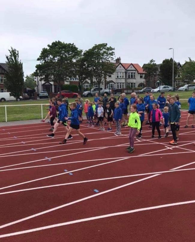 YOUNG RUNNERS: Children from the Leven Valley AC Running Club may not be able to train over the summer
