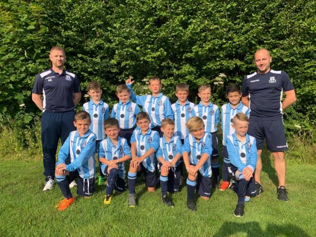 NEW KIT: Furness Cavaliers Under 9s team with their new shirts courtesy of Lucidity Group