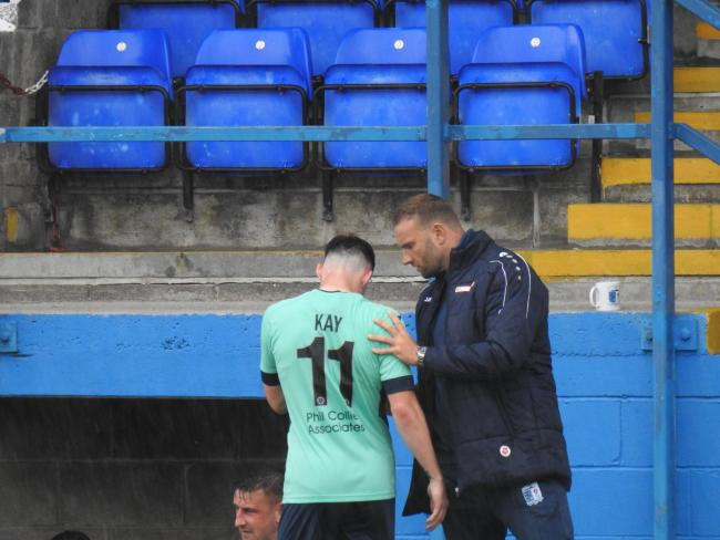 Ian Evatt speaks to Barrow AFC winger Josh Kay