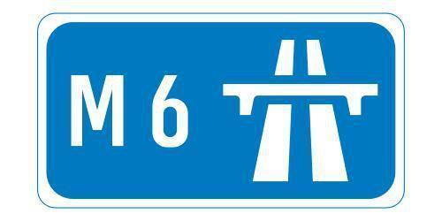 DRIVE CAREFULLY: Speed restriction on M6