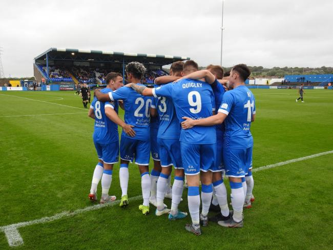OFF THE MARK: Barrow AFC put a disappointing week behind them with victory against Eastleigh