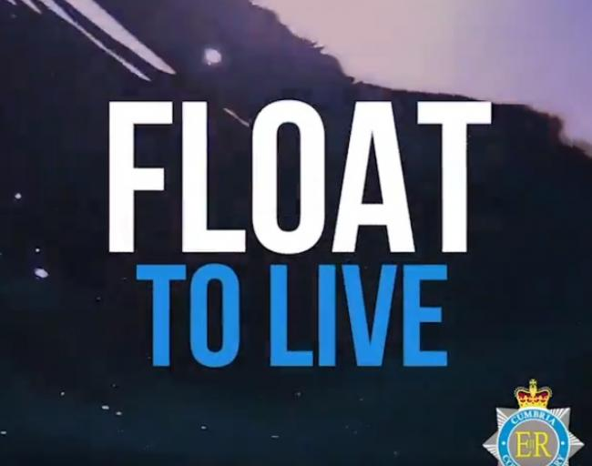 WARNING: 'Float to live' message from Cumbria Police