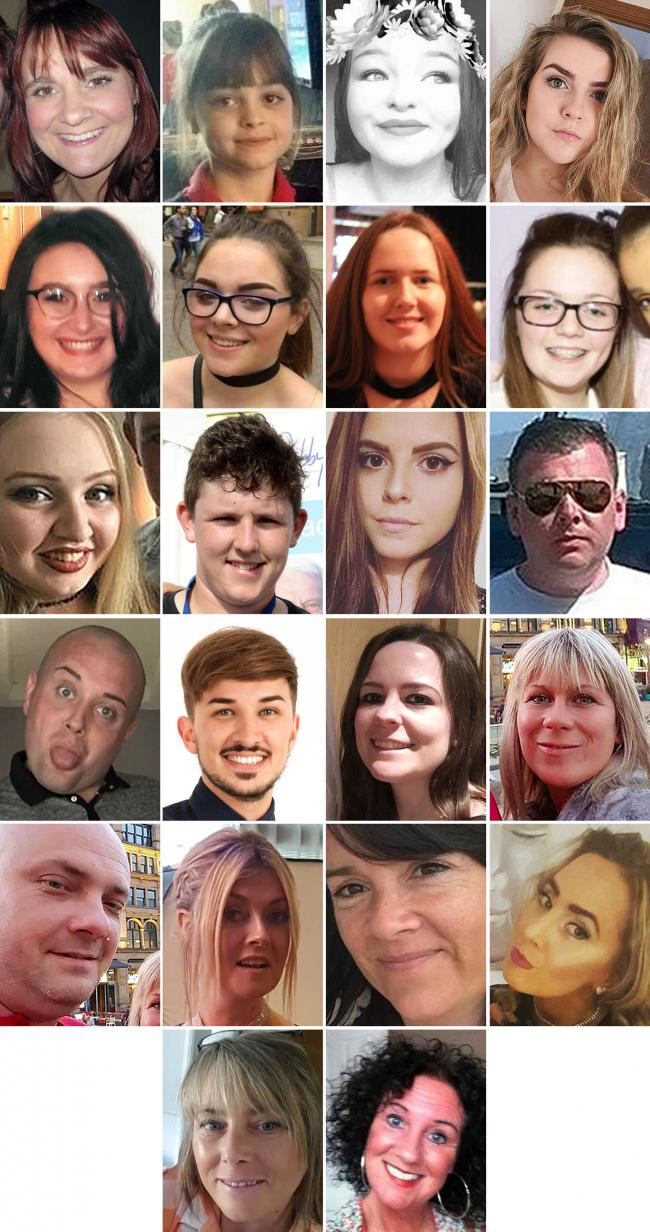 Undated handout file photos issued by Greater Manchester Police of the 22 victims of the terror attack during the Ariana Grande concert at the Manchester Arena, as the families of victims have been distressed by a further delay to the inquests into their