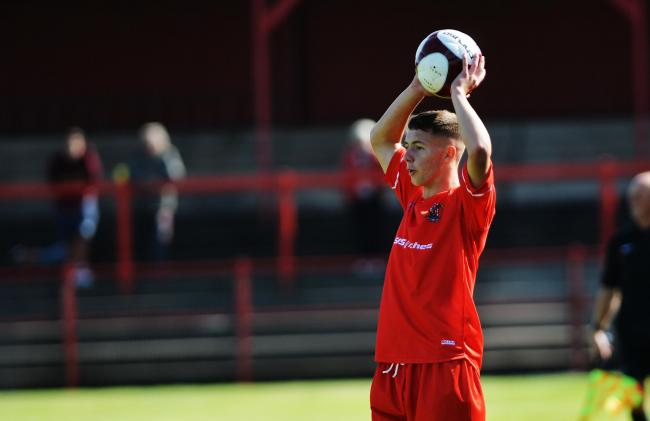 Liam Brockbank in action for Workington Reds