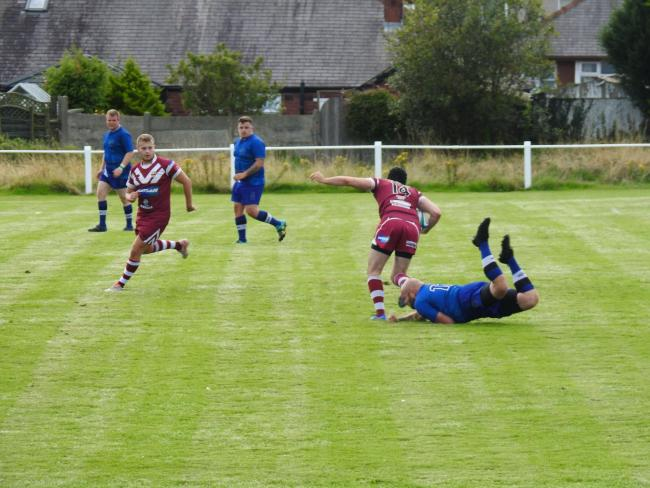 ON THE RUN: Hawcoat Park couldn't force their way back into the game at Silloth             Picture: Leigh Ebdell