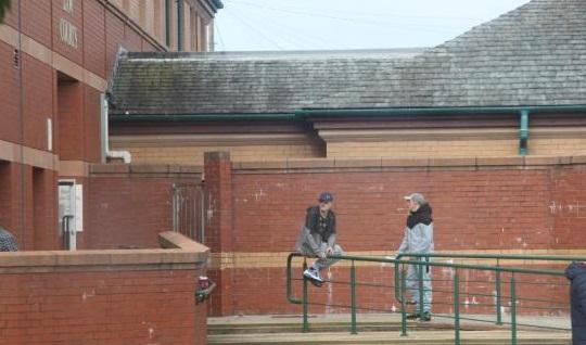 GUILTY: Keanu Logan (left) outside South Cumbria Magistrates' Court in Barrow