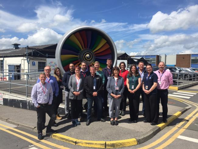 Visit: Attendees on the programme visiting Rolls-Royce