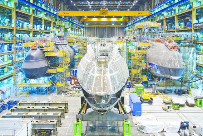 A submarine being built at BAE Systems in Barrow