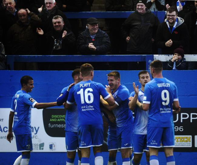 BANG IN FORM: Barrow AFC have moved to within two points of the top of the National League