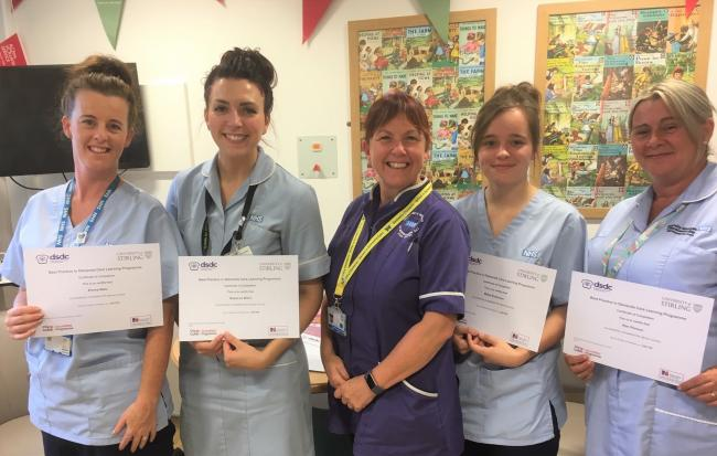 COURSE COMPLETED: (from left to right) Emma Neto, Rebecca Ward, Dianne Smith, Millie Robinson and Kim Peirson.