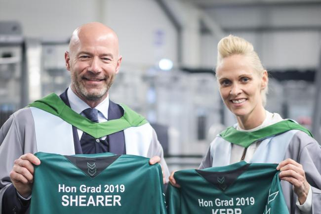 Alan Shearer and Shelley Kerr