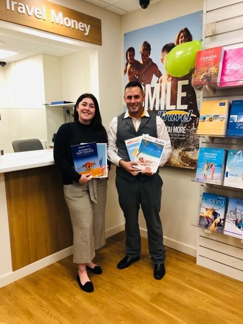OPEN: Hays Travel in Ulverston has officially opened its doors. Abi is the foreign exchange advisor with Ryan, the new branch manager