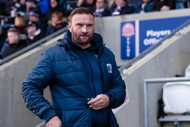 Barrow AFC manager Ian Evatt before the English National League match between AFC Fylde and Barrow AFC at Mill Farm, Coronation Way, Wesham, Preston, PR4 3JZ on Wednesday 1st January 2020. (Credit: Andy Whitehead Photography Ltd) Photograph may only be us