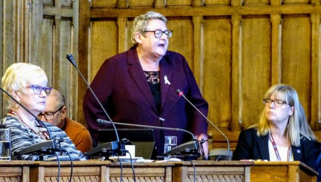 Cllr Hazel Edwards, Cllr Ann Thomson and chief executive Sam Plum Picture: Ellis Butcher