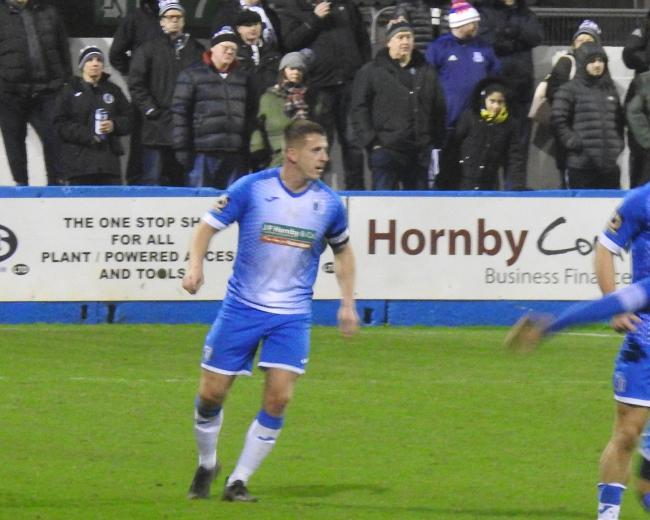 LOVES THE CLUB: Josh Granite made 38 appearances in two years as club captain of Barrow AFC