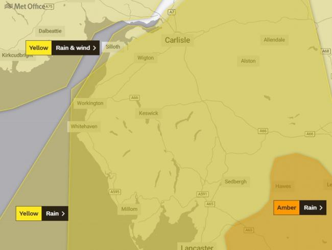 A Met Office weather warning for wind has been updated. February 14, 2020