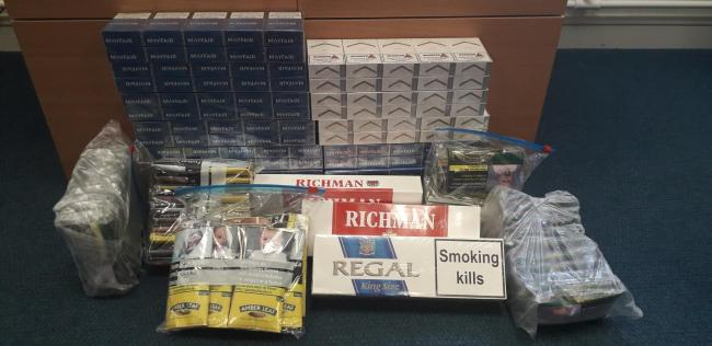 The seized cigarettes.