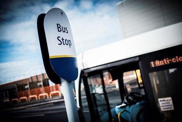 Bus stop near Sellafield