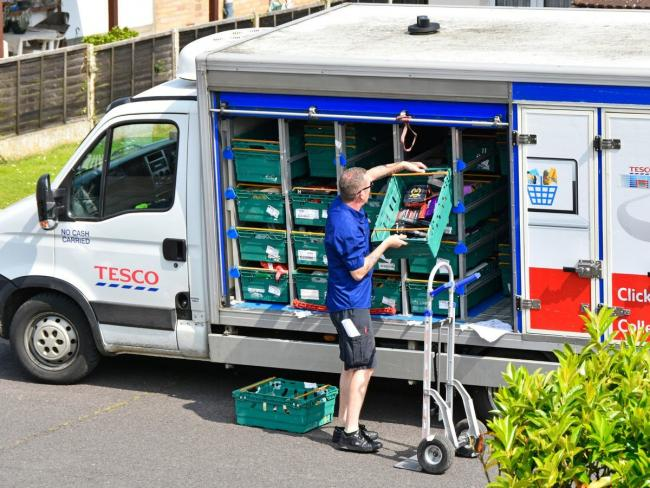 IN DEMAND: Shoppers have been unable to book home delivery slots from supermarkets such as Tesco