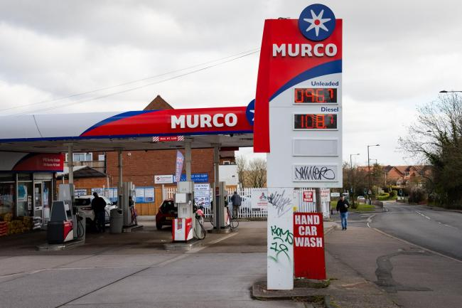 The price of petrol at a Murco fueling station in Maypole, Birmingham stands at 96.7 pence, as coronavirus weighs down global oil prices. PA Photo. Picture date: Tuesday March 31, 2020. See PA story HEALTH Coronavirus. Photo credit should read: Jacob King