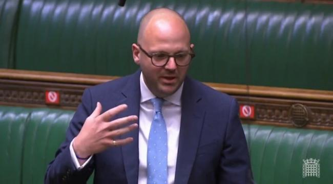 Simon Fell speaking during Prime Minister's Questions