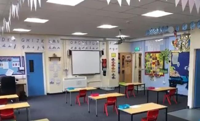St Pius X Catholic Primary School put out a video showing the inside of a classroom ahead of its wider reopening