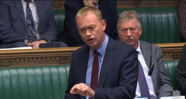 MP: Tim Farron giving a speech in parliament