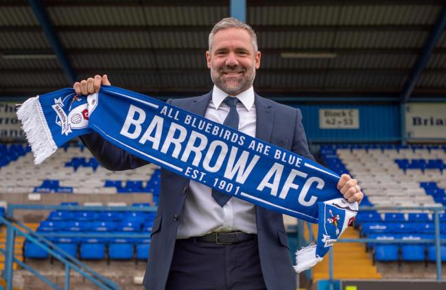 BIG OPPORTUNITY: David Dunn was appointed as Barrow AFC's new manager yesterday