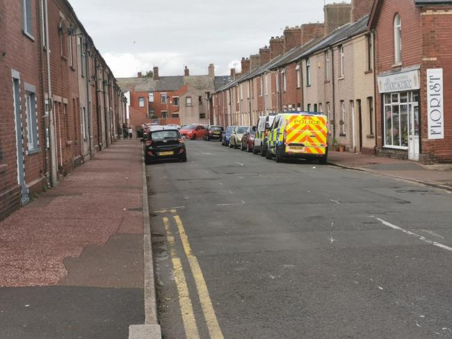 Road sealed off in Barrow as incident unfolds