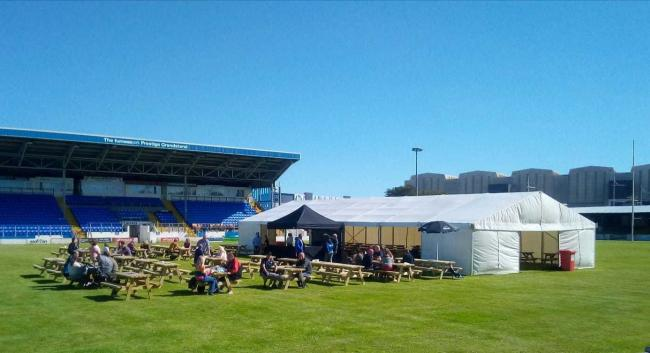 Barrow Raiders beer garden