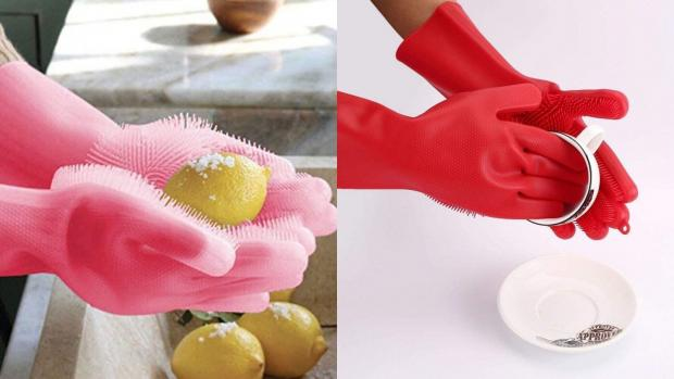 The Mail: Gloves and sponges in one? Yes, please. Credit: Forliver