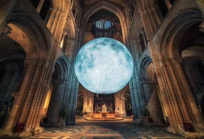 TRANSFORM: The Coro Hall in Ulverston has transformed into a 'jaw-dropping' museum featuring a seven metre moon