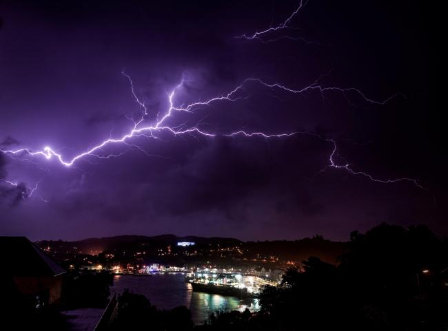 The Met Office has issued an amber thunderstorm warning